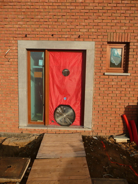 Porte de pressurisation pour test Blower Door